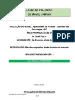 AVALIAÇÃO DE IMOVEL URBANO - AVALIAÇÃO FINAL