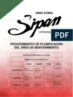 PROCEDIMIENTO DE PLANIFICACIÓN DE MNTTO