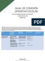 PLAN ANUAL DE COMISIÓN DE COOPERATIVA ESCOLAR