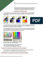 La palette de couleurs