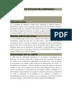 TEORIA DE LOS ESTILOS DE LIDERAZGO