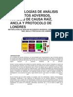 DIFERENTES METODOLOGIAS INVESTIGACION EVENTOS ADVERSOS