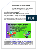 The Best Email and SMS Marketing Company