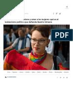 Prescindir de los hombres y amar a las mujeres_ qué es el lesbianismo político que defiende Beatriz Gimeno
