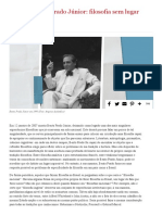 Dossiê sobre Bento Prado Júnior => Filosofia sem lugar