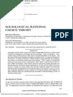 Sociological Rational Choice t