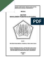 24. MODUL Diklat Pemeriksaan Sarana Pengangkut Manajemen Pemeriksaan Kapal