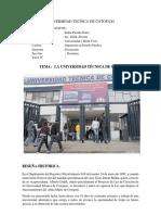 historia de la Universidad Técnica de Cotopaxi