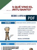 PARA QUÉ VINO EL ESPIRITU SANTO 1