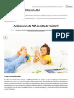 Autismo_ método ABA ou método TEACCH_ - Instituto Itard