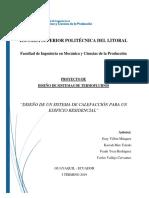 Proyecto Diseño de Sistemas Termofluidos - Final