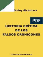 Historia crítica de los falsos cronicones - José Godoy Alcántara