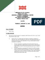 City Council Regular Meeting 3570 Agenda 1-21-2020!5!00 00 PM