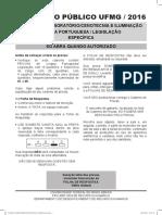 PROVA TECNICO+DE+LABORATORIO-CENOTECNIA+E+ILUMINACAO UFMG