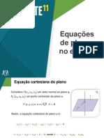 Equações de planos no espaço