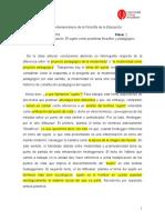 Clase 2 - Sujeto como problema filosófico y pedagógico