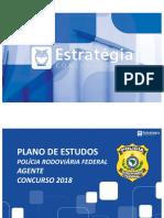 Plano de Estudos - PRF Agente (slides) - Pós-Edital 2018.pdf