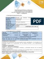 Guía de actividades y rubrica de evaluación - Paso 2 - Indagación