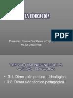 Dimensiones de la calidad educativa