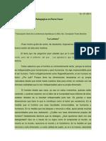 La Lectura conferencia de Coco Flores Montúfar