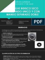 EMBRAGUE BIDISCO SECO CON MANDO UNICO Y CON
