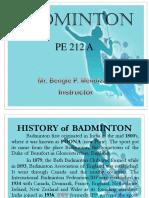 BADMINTON PRESENTATION