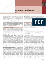 Preoperative Pulmonary Testing