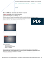 Generalidades sobre el sistema endocrino - Trastornos endocrinológicos y metabólicos