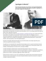 """3.2 DUARTE, Luiz Fernando Dias. @ """"A antropologia é ciência_"""". Ciência Hoje online"""