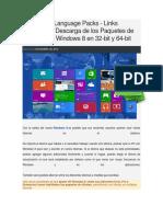 Windows 8 Paquetes de Idioma para Windows 8