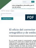 El oficio del corrector ortográfico y de estilo, por E. Lobato Correcciones de textos | Edición de c.pdf