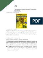 Reglamento, nomenclatura y símbología de Inst.Sanitarias