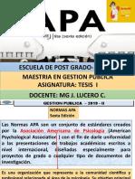 EXPOSICION APA - 6TA EDICION