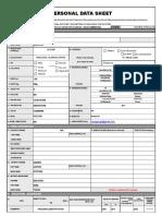 personal data sheet-BLANK