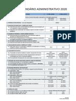 Calendário Administrativo UFF 2020