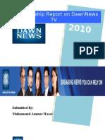 DawnNews Internship Report 2010