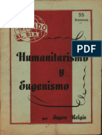 Eugen Relgis - humanitarismo y eugenesia
