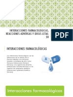 INTERACCIONES FARMACOLOGICAS, REACCIONES ADVERSAS Y DOSIS LETAL