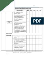 Pauta de Evaluación del curriculum 2012 ultimo