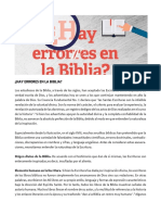 Revista Adventista - ¿Hay Errores en La Biblia?