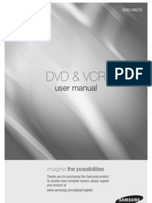 Samsung-VR375 Dvd Vcr Recorder User Manual | Dvd