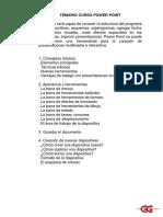 Temario PowerPoint