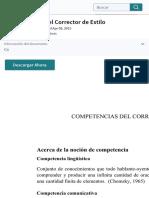 Competencias Del Corrector de Estilo | Gramática | Cognición