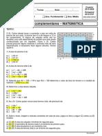 8º - REVISAO PARA INTEGRADA -GABARITO