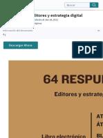 64 respuestas. Editores y estrategia digital | Publicación | Blog