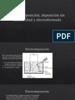 Electrodeposición, deposición sin electricidad y electroformado.pptx