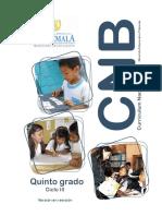 5o grado CNB Nivel de Educación Primaria