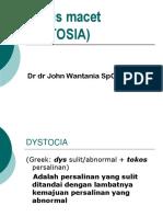DISTOSIA - JW  (Short  version2).ppt