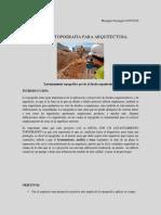 CURSO DE TOPOGRAFIA PARA ARQUITECTURA