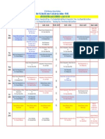 Class Schedule of 15th week (20-01-20 to 25-01-20) of Semester-IV (Class of 2020)